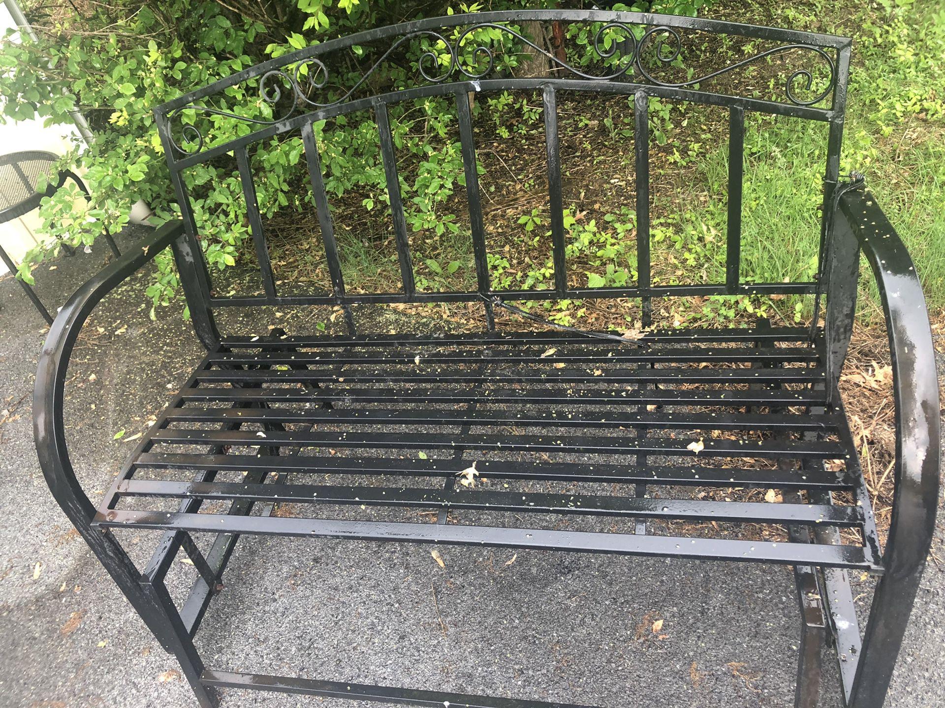 Outdoor Rocking Bench