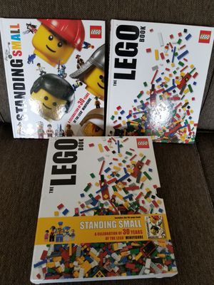 "LEGO Box set of 2 /. ""The Lego Book &"" Standing Small"" for Sale in Mukilteo, WA"