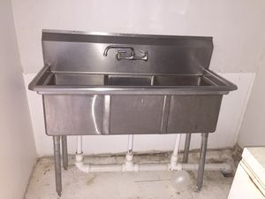3 compartment sink for Sale in Houston, TX