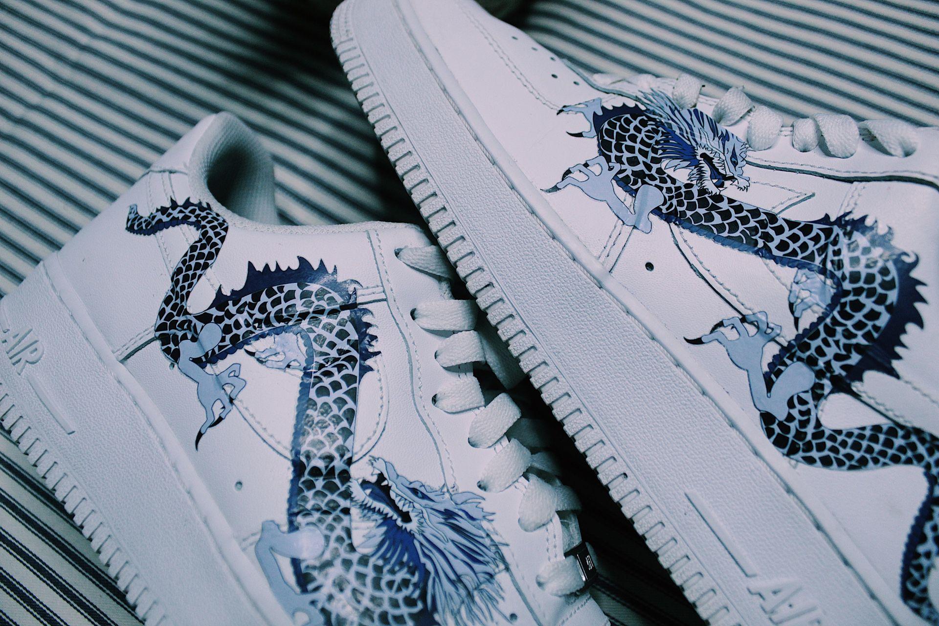 Nike Air Force 1 Blue Dragon