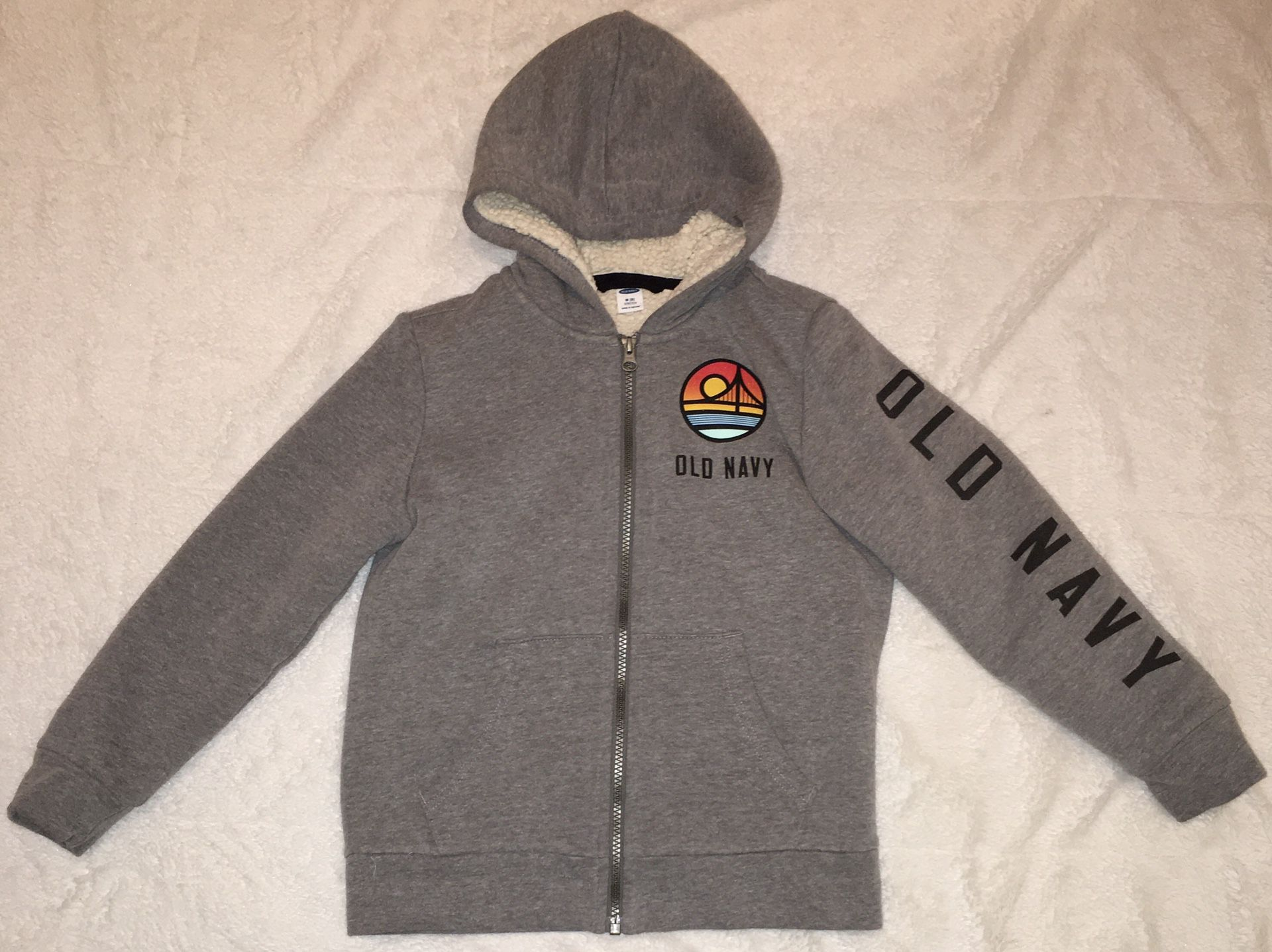Old Navy grey sweater, boys, medium, (8)