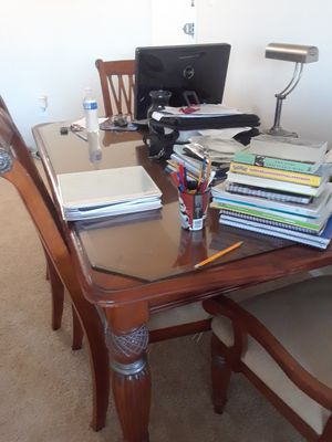dining table + glass + 6 chair for Sale in Washington, DC