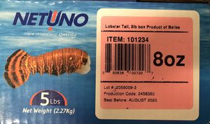Lobster Tail 6oz 5lb Case 13 count for Sale in Jersey City, NJ