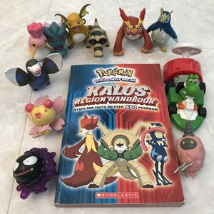 Pokemon kalos book and figures figurines for Sale in Silver Spring, MD