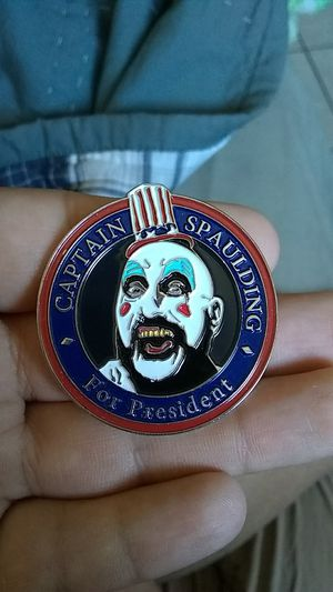 Captain Spaulding for president pin clip metal horror house of a thousand corpses devils rejects for Sale in Norwalk, CA