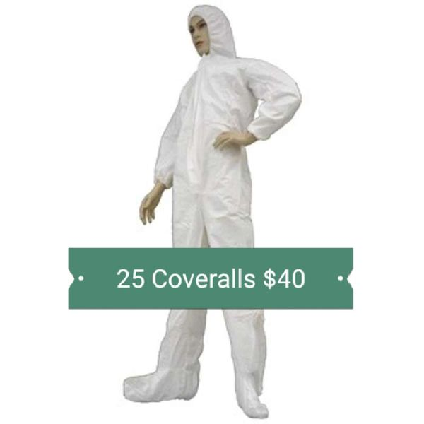 25 White Disposable Coveralls Full Body Hazmat Cannabis Grow Asbestos  Abatement for Sale in Portland, OR - OfferUp