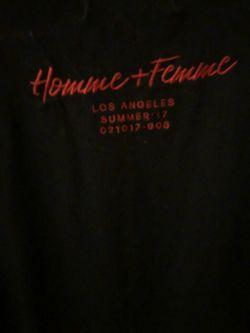 Homme Femme Love Hate Tee Black XL Thumbnail