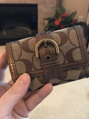 Mini Coach Signature Wallet with gold trim for Sale in Renton, WA