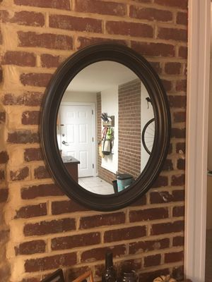 Mirror with brown frame from Target for Sale in Washington, DC