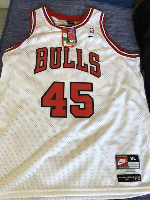 buy online 2978a 4e095 Brand New Nike Michael Jordan Jersey Bulls 45 XL for Sale in San Diego, CA  - OfferUp