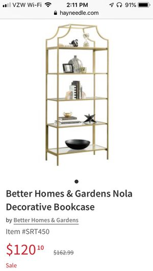 Gold Bookcase for Sale in Portland, OR
