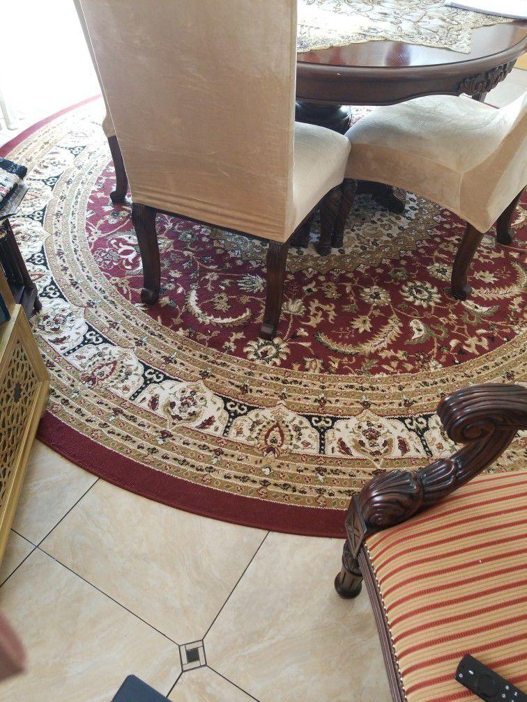 12 Feet Circle Rug $150