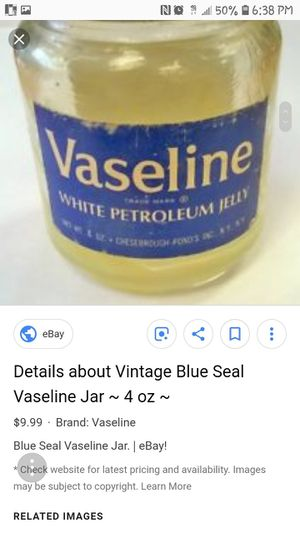 Vaseline bottle collectible blue seal for Sale in Glendale, AZ