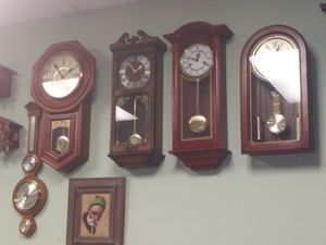 Antique wall clocks 31day chime for Sale in Anaheim, CA