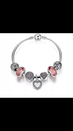 New Silver and crystal charm Bangle Bracelet for Sale in Centreville, VA
