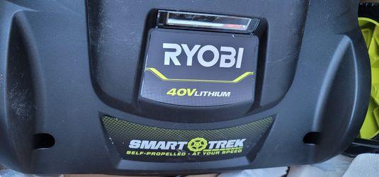 """Ryobi 20"""" 40V Brushless Cordless Smart Trek Self-Propelled Walk Behind Mower Thumbnail"""