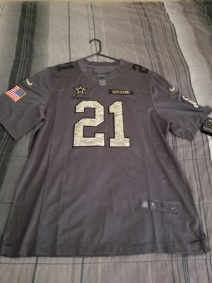 Brand new Ezekiel Elliot Dallas Cowboys Limited Edition Salute To Service Size Large Stitched Nike Jersey Brand new tags for Sale in Las Vegas, NV