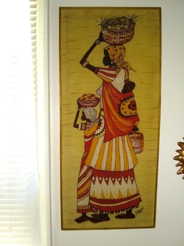 Fabric wall art 30x14 (Arts & Crafts) in Alexandria, VA - OfferUp