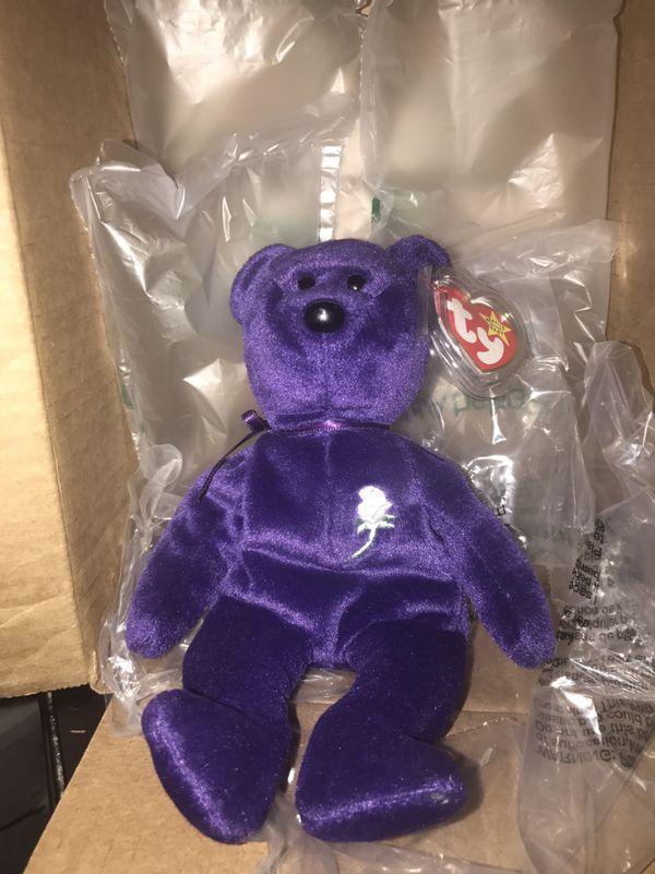 1st edition princess diana beanie bear