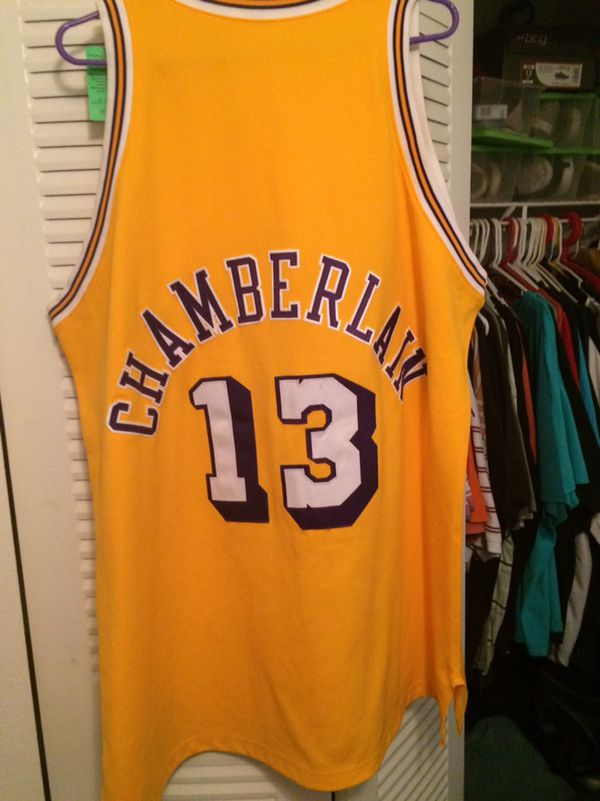 online retailer 31bbd 97a1b Wilt Chamberlain Jersey: #13 Gold Men's Mitchell and Ness NBA Los Angeles  for Sale in Saint Cloud, FL - OfferUp