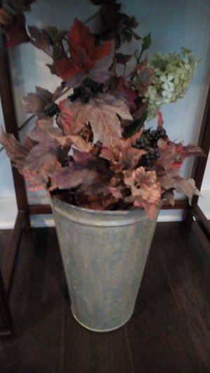 Dried arrangement in silver bucket for Sale in Houston, TX