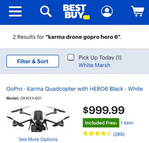 Go pro karma drone for Sale in Baltimore, MD