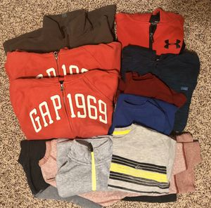 Photo Like New Boys Size 8-10 13 pc. Lot Gap, Under Armour Clothes Hoodies