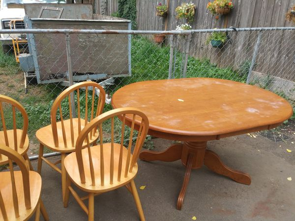 Kitchen table with 4 chairs needs refinished for sale in portland kitchen table with 4 chairs needs refinished for sale in portland or offerup watchthetrailerfo