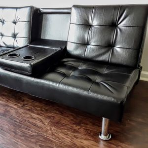 New Black Sofa/Futon/Sleeper for Sale in Chevy Chase, MD
