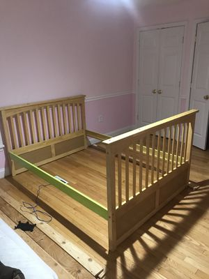 Full wood bed frame for Sale in Ijamsville, MD