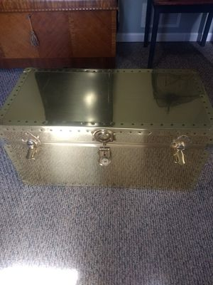Vintage 1970's gold brass Hollywood Regency style chest for Sale in Orland Park, IL