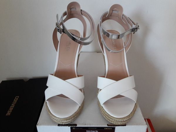 ce898bb75aa574 Charles by Charles Jordan leather wedges size 9 (Clothing   Shoes ...