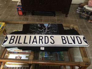 BILLIARDS BLVD ST SIGN for Sale in Alexandria, VA