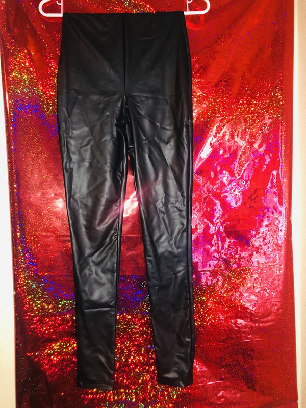 7d697f85aec Fashion Nova Black Faux Leather Pants for Sale in San Bernardino, CA -  OfferUp