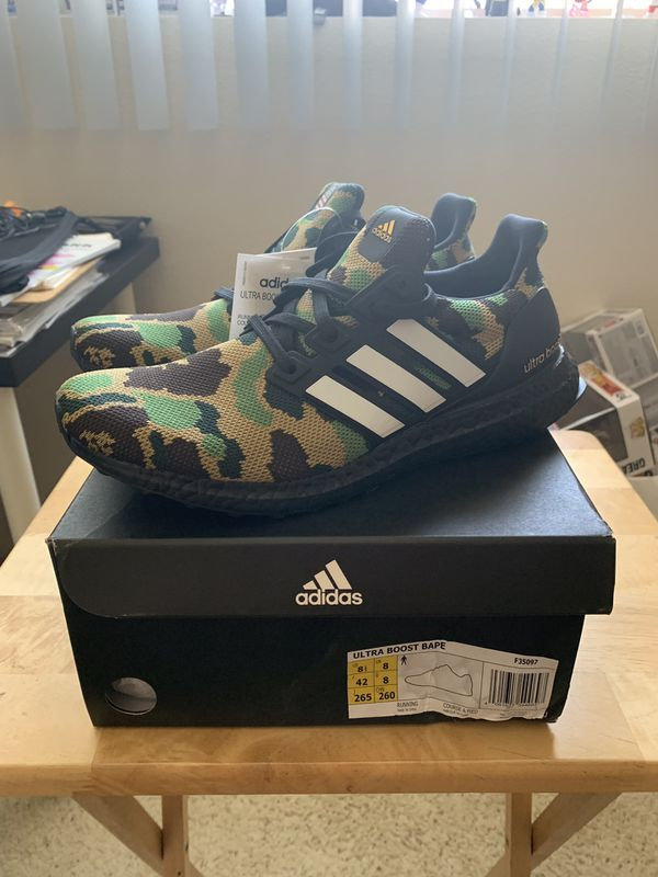 Adidas x Bape Ultraboost Damaged box 8.5 for Sale in Los Angeles, CA OfferUp