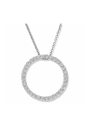 14k white gold diamond circle life pendant necklace for Sale in Philadelphia, PA