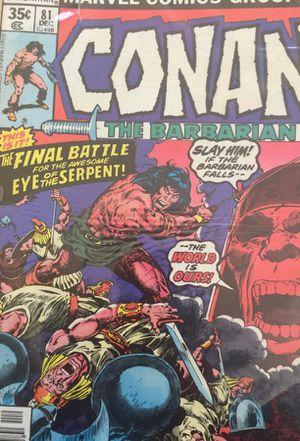 Conan the barbarian vintage comic full set for Sale in Atlanta, GA