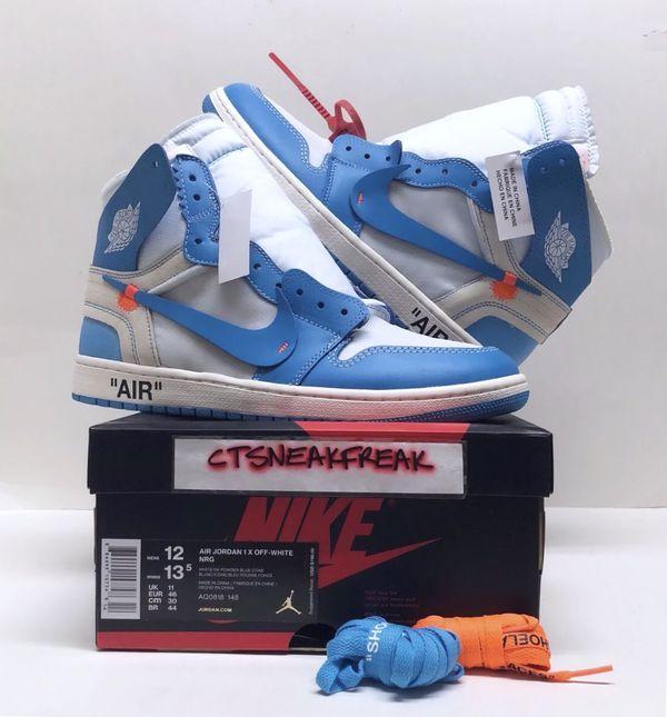 separation shoes 3c85d 81c52 Nike Air Jordan 1 Retro High OG UNC Off White NRG AQ0818-148