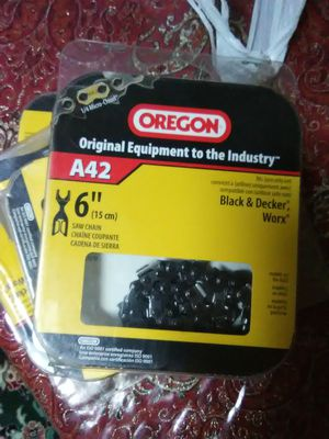Four new chains for chain saw for Sale in Abingdon, MD
