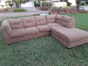 One year old, L- shaped sofa available for pickup. Slightly used, but in great shape. 180 OBO for Sale in Orlando, FL