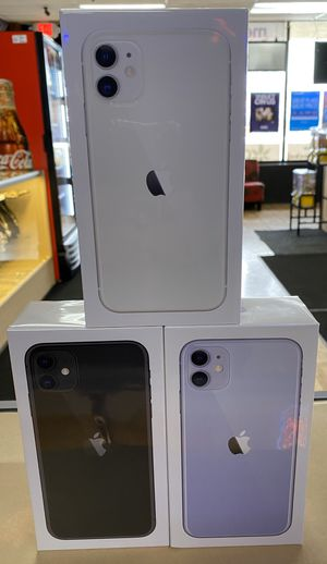 Photo IPhone 11 brand new in box for boost mobile,price includes phone first month of service and activation fee! This is only for new or port in customers.