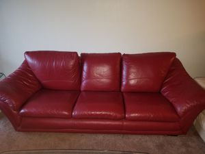 Red Leather Sofa An Chair Set For In Minneapolis Mn
