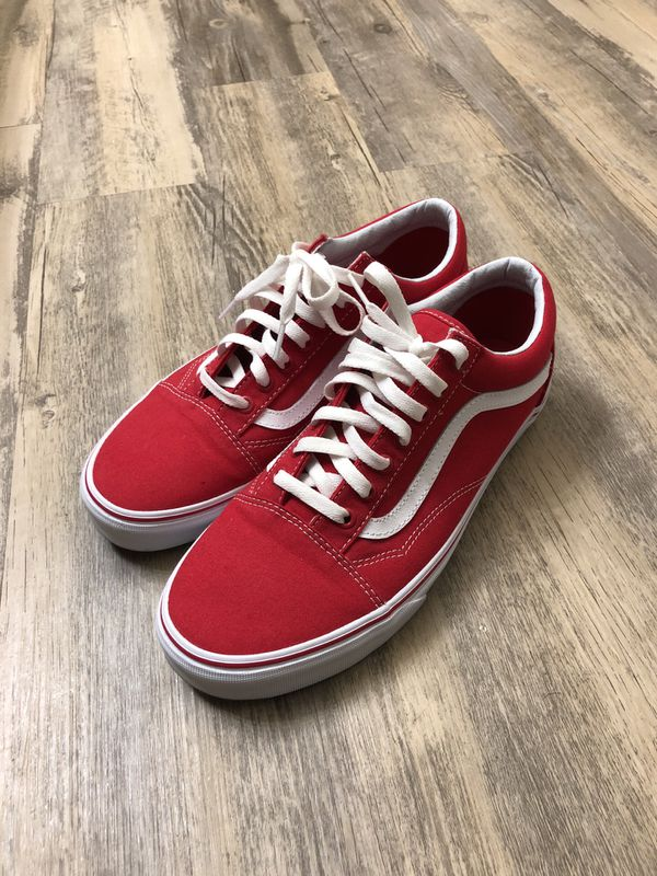 15aa7b18fa DS Red Vans Old Skool Size 10 for Sale in Houston