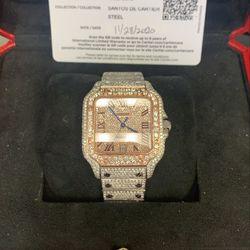 Cartier Santos XL Bustdown ❄️all Over 17.35CT Diamonds 2020 Thumbnail