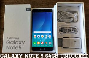 Galaxy Note 5 Verizon + GSM Unlocked 64GB (Like New) for Sale in Falls Church, VA