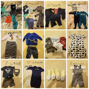 baby boy clothes(0-6month) and Handsocks ×2 for Sale in Frederick, MD