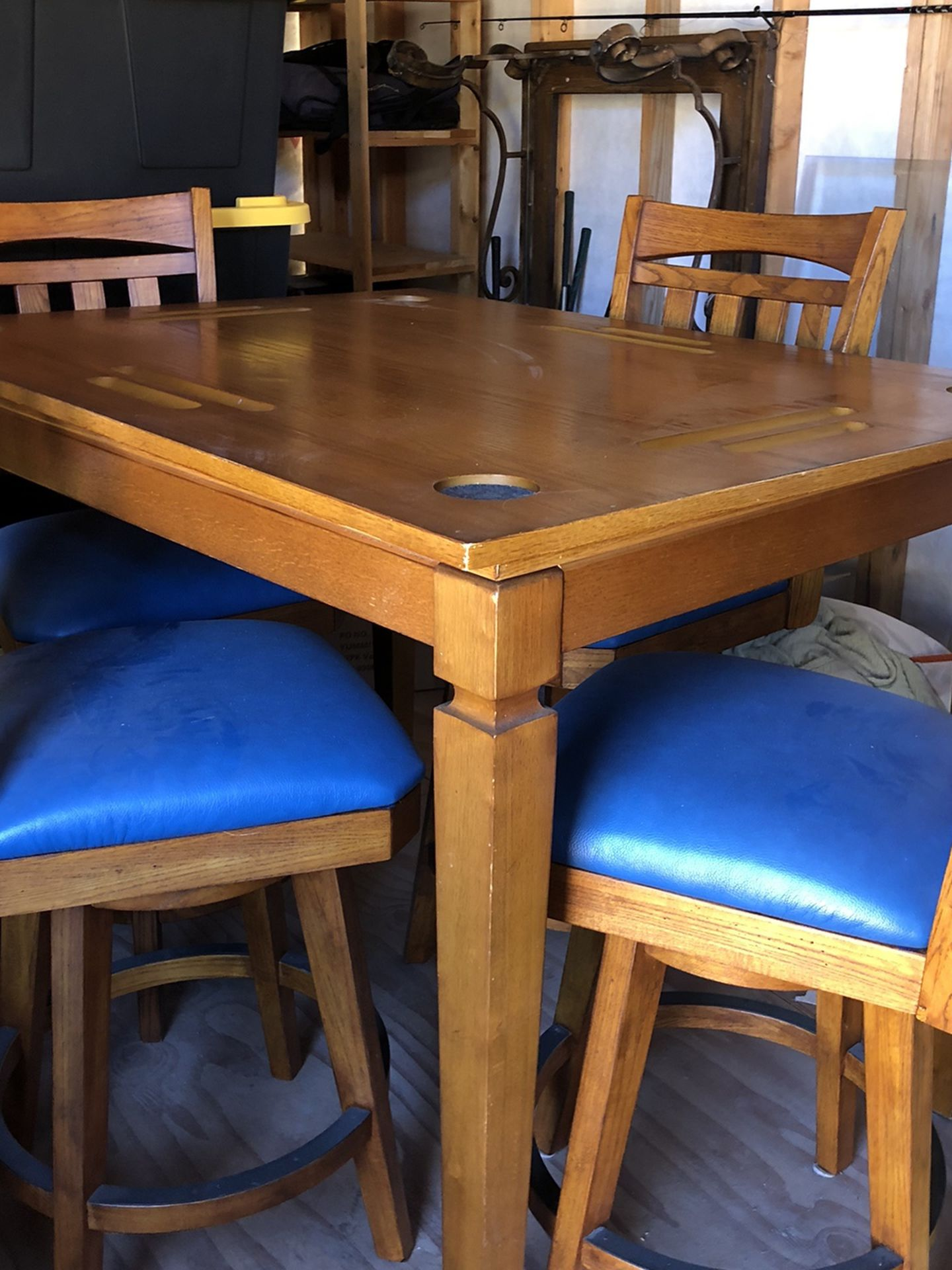 Bar Table / Poker Table and 4 Chairs