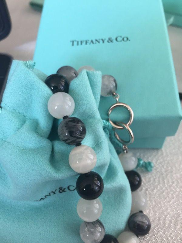 55715235e Tiffany & Co Paloma Picasso Sterling Silver Quartz Moonstone Onyx Bead  Bracelet