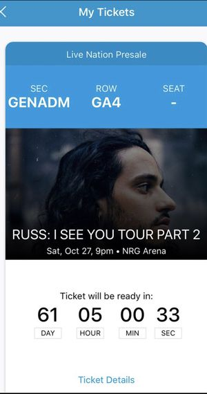 Russ Tickets for Sale in Houston, TX