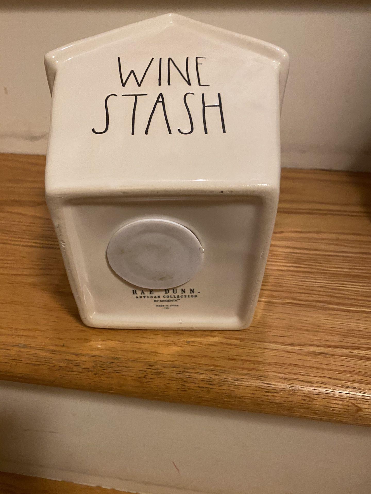 Rae Dunn Wine Stash Bank